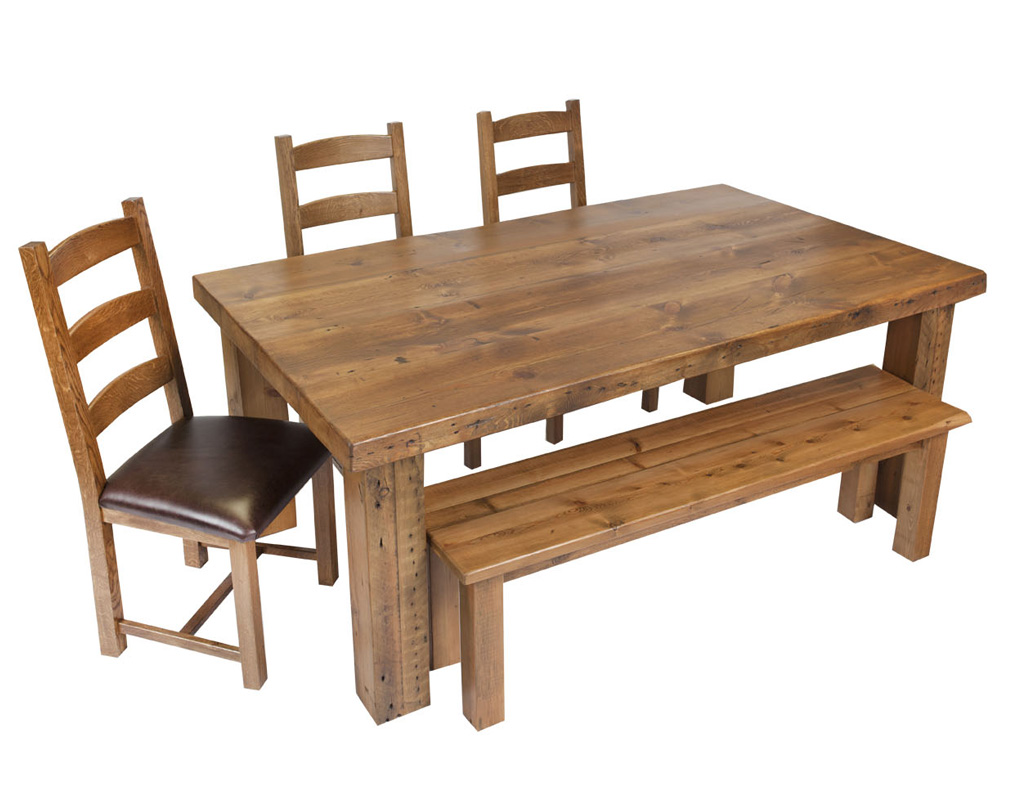 Bespoke-reclaimed-table-and-bench