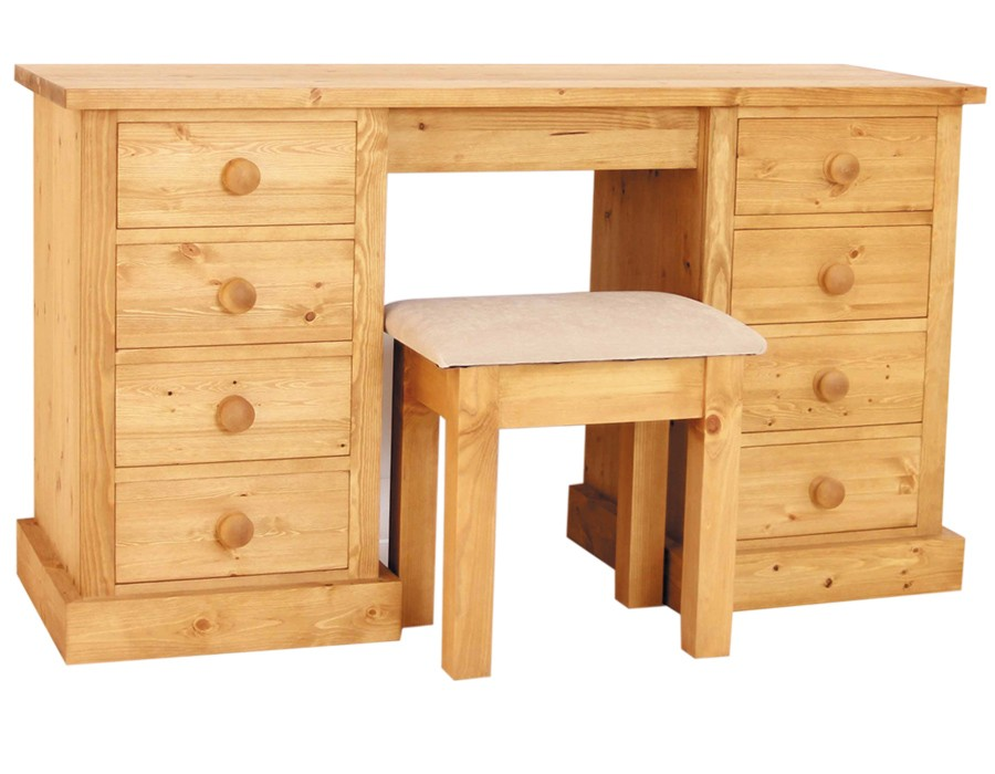 Bespoke Combination Double Pedestal Dressing Table