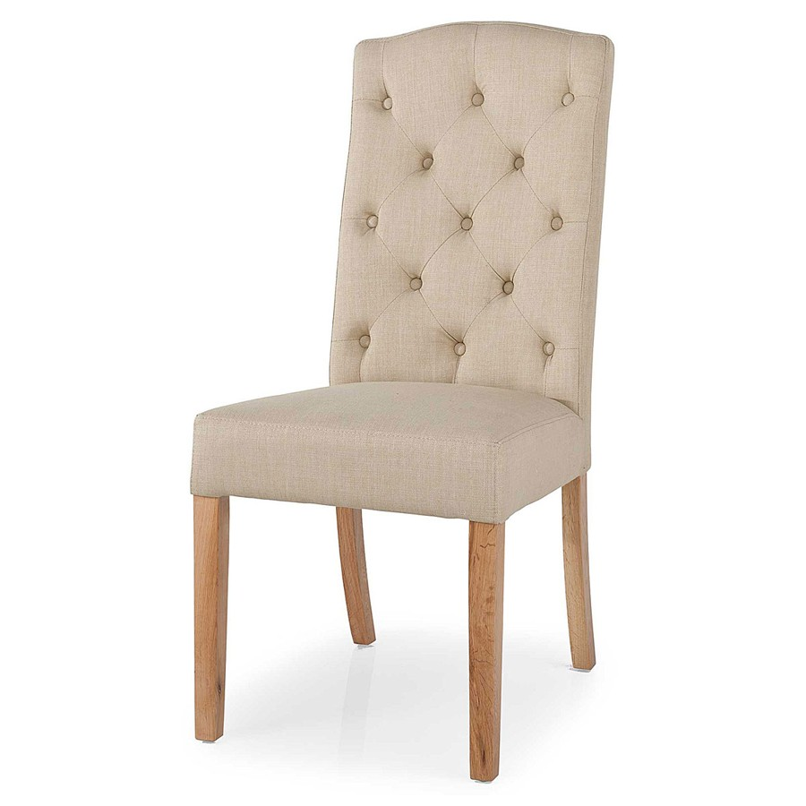 Malvern Button Back Dining Chair (Camel)