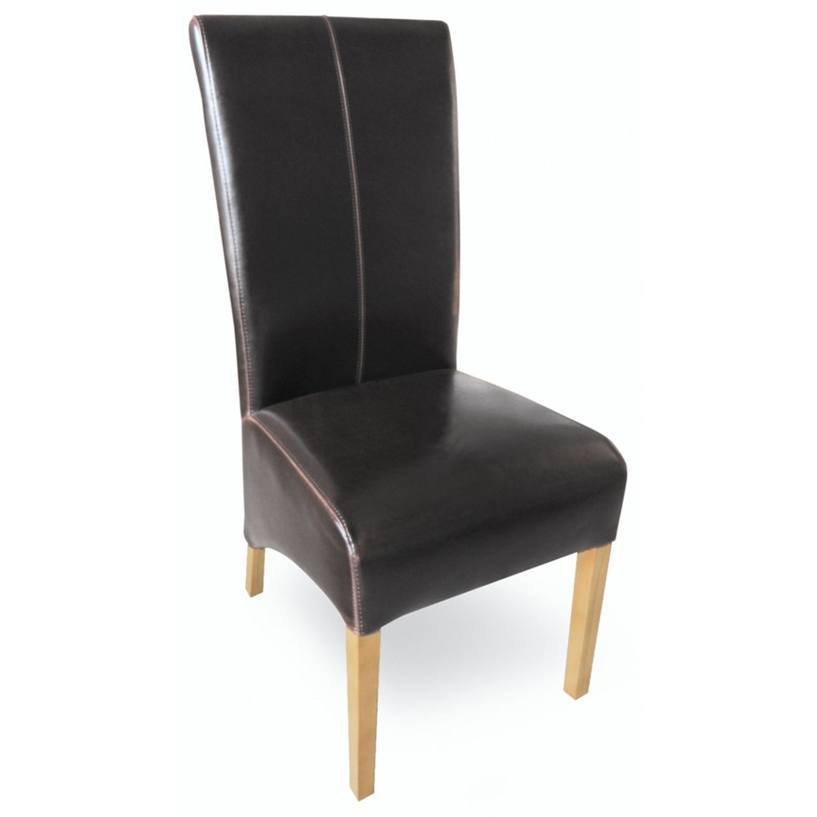 Milano Brown Leaher Chair