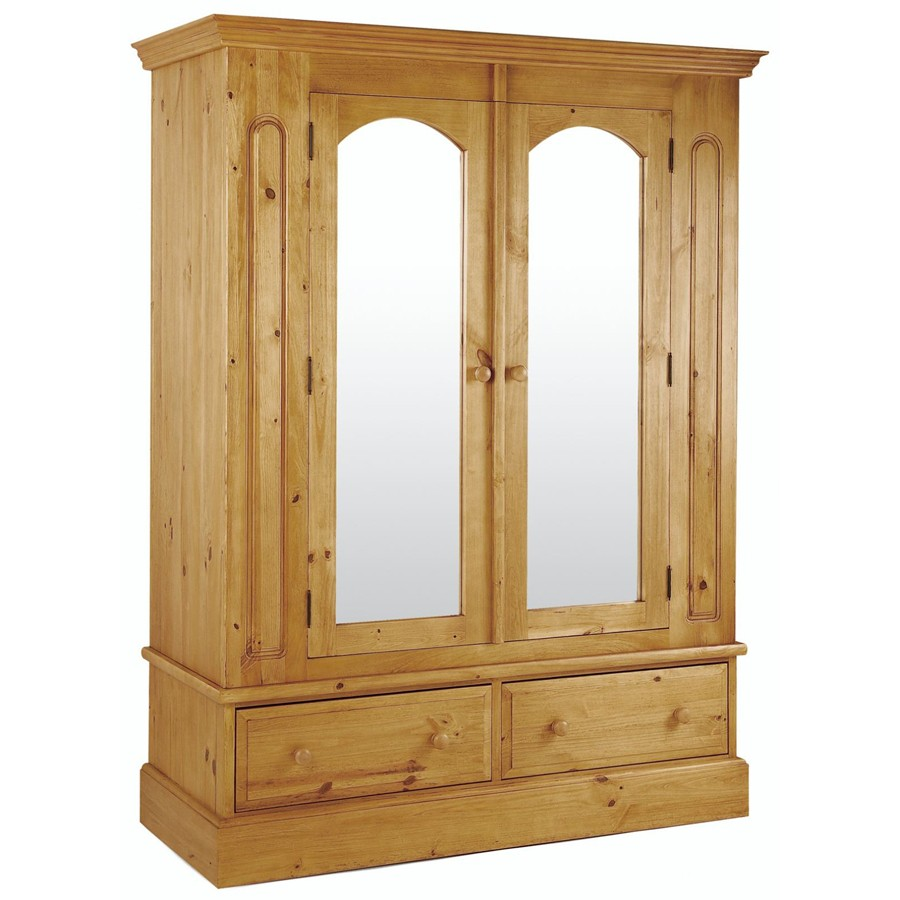 Sherwood Pine 2 Door Robe with Mirror
